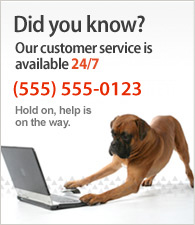 Nosso SAC funciona 24h, 7 dias/semana. Fale conosco: (555) 555-0123.